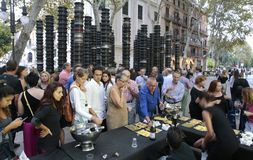 Εορτασμός εκθεμάτων τέχνης Moder στη Μαγιόρκα υπαίθρια στοκ φωτογραφία