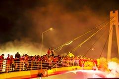 εορτασμός επετείου του 92ου έτους της αθλητικής λέσχης Goztepe Στοκ φωτογραφία με δικαίωμα ελεύθερης χρήσης