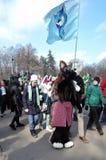 Εορτασμός ημέρας Αγίου Πάτρικ ` s στη Μόσχα Στοκ εικόνες με δικαίωμα ελεύθερης χρήσης