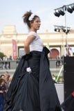 Εορτασμός ημέρας πόλεων της Μόσχας στο πάρκο του Γκόρκυ Θέατρο κορώνας από την Ιταλία Στοκ Φωτογραφίες