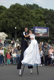 Εορτασμός ημέρας πόλεων της Μόσχας στο πάρκο του Γκόρκυ Θέατρο κορώνας από την Ιταλία Στοκ Εικόνες