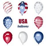 Εορτασμός ημέρας της ανεξαρτησίας μπαλονιών αμερικανικών σημαιών Στοκ εικόνα με δικαίωμα ελεύθερης χρήσης