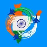 Εορτασμός δημοκρατιών της Ινδίας Στοκ Εικόνα