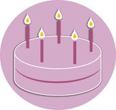εορτασμός κέικ διανυσματική απεικόνιση