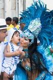 Εορτασμός καρναβαλιού σε Pelourinho στο Σαλβαδόρ Bahia, Βραζιλία στοκ εικόνες με δικαίωμα ελεύθερης χρήσης
