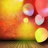 Εορτασμός με τα μπαλόνια Στοκ εικόνα με δικαίωμα ελεύθερης χρήσης