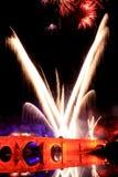 Εορτασμός με τα πυροτεχνήματα λεπτομέρειας των χρωμάτων Στοκ φωτογραφίες με δικαίωμα ελεύθερης χρήσης