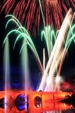 Εορτασμός με τα πυροτεχνήματα λεπτομέρειας των χρωμάτων Στοκ Εικόνα