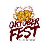 εορτασμός ο πιό oktoberfest Καλλιγραφία τάσης Στοκ Εικόνες