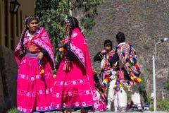 Εορτασμός σε Ollantaytambo Περού στοκ φωτογραφία