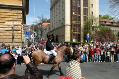 Εορτασμός στην πόλη Brasov στο χρόνο 6 Πάσχας Στοκ φωτογραφία με δικαίωμα ελεύθερης χρήσης