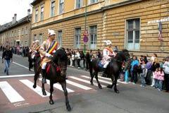 Εορτασμός στην πόλη Brasov στο χρόνο 7 Πάσχας Στοκ Εικόνες