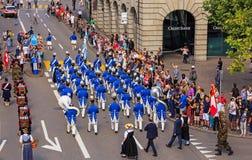 Εορτασμός της ελβετικής εθνικής μέρας στη Ζυρίχη, Ελβετία Στοκ Φωτογραφίες
