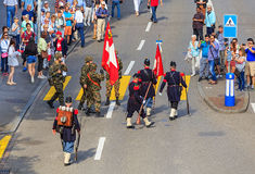 Εορτασμός της ελβετικής εθνικής μέρας στη Ζυρίχη, Ελβετία Στοκ Εικόνα