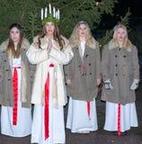 Εορτασμός της Lucia Santa Στοκ φωτογραφίες με δικαίωμα ελεύθερης χρήσης