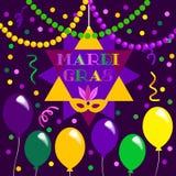 Εορτασμός της Mardi Gras απεικόνιση αποθεμάτων