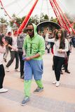 Εορτασμός του ινδικού φεστιβάλ των χρωμάτων και της άνοιξη Holi στο πάρκο του Γκόρκυ Στοκ φωτογραφία με δικαίωμα ελεύθερης χρήσης