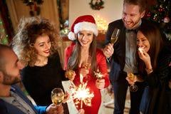 Εορτασμός του νέου έτους Στοκ εικόνα με δικαίωμα ελεύθερης χρήσης