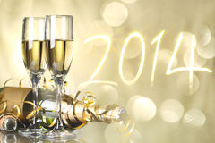 Εορτασμός το νέο έτος 2014 Στοκ φωτογραφίες με δικαίωμα ελεύθερης χρήσης