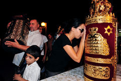 Εορτασμός των εβραϊκών διακοπών Simchat Torah Στοκ Εικόνες