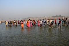 Εορτασμός φεστιβάλ Dussehra Ganga Στοκ Εικόνα