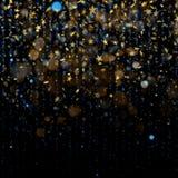 Εορτασμός Χριστουγέννων ή αφηρημένη έννοια Ακτινοβολώντας αστέρια στο σκοτεινό υπόβαθρο 10 eps ελεύθερη απεικόνιση δικαιώματος