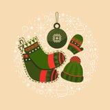 Εορτασμός Χριστουγέννων απεικόνισης Στοκ Εικόνα