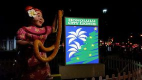 Εορτασμός Χριστουγέννων στη Χονολουλού Oahu Χαβάη στοκ εικόνα με δικαίωμα ελεύθερης χρήσης