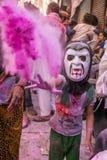 Εορτασμός Holi, Vrindavan και Ματούρα, Ινδία στοκ φωτογραφίες με δικαίωμα ελεύθερης χρήσης