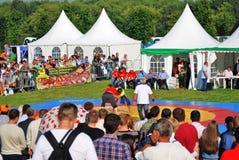 Εορτασμός Sabantui στη Μόσχα Ανταγωνισμός παλαιστών στοκ φωτογραφίες