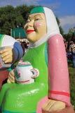 Εορτασμός Sabantui στη Μόσχα Μεγάλο άγαλμα γυναικών Στοκ Εικόνες