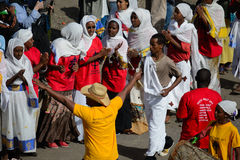 Εορτασμός Timkat στην Αιθιοπία Στοκ Εικόνα