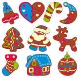 εορταστικά μπισκότα Χρισ&ta Στοκ φωτογραφίες με δικαίωμα ελεύθερης χρήσης