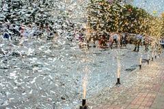 Εορταστικά πυροτεχνήματα πόλεων Στοκ Εικόνα