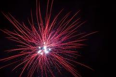 εορταστικά πυροτεχνήματ& Στοκ Εικόνες