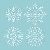 εορταστικά snowflakes απεικόνισης σχεδίου Χριστουγέννων Ελεύθερη απεικόνιση δικαιώματος