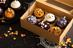 Εορταστικές αποκριές cupcakes και απολαύσεις στοκ φωτογραφίες με δικαίωμα ελεύθερης χρήσης