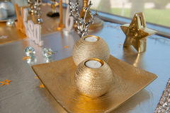 Εορταστικές διακοσμήσεις με το κερί Στοκ Εικόνες