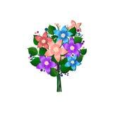 Εορταστική ανθοδέσμη του όμορφου διανύσματος λουλουδιών στο λευκό Στοκ φωτογραφίες με δικαίωμα ελεύθερης χρήσης
