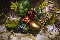 Εορταστική ζωή αντικειμένων Χριστουγέννων ακόμα Στοκ Εικόνα