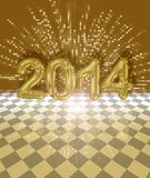 Εορταστική κάρτα του 2014 διανυσματική απεικόνιση