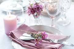 Εορταστική ρύθμιση γαμήλιων πινάκων Στοκ Φωτογραφίες