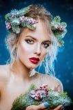 Εορταστική σύνθεση και hairstyle στοκ φωτογραφία με δικαίωμα ελεύθερης χρήσης