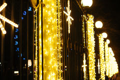 Εορταστικοί φωτισμοί Χριστουγέννων στο Winter Park στοκ φωτογραφία