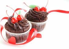 Εορταστικός (γενέθλια, ημέρα βαλεντίνων) cupcake Στοκ Εικόνες