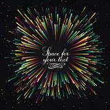 Εορταστικός νέος χαιρετισμός έτους ` s Μια φωτεινή έκρηξη των εορταστικών φω'των Μια λάμψη των πυροτεχνημάτων επίδραση πυράκτωσης ελεύθερη απεικόνιση δικαιώματος