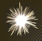 Εορταστικός χαιρετισμός πυροτεχνημάτων που εκρήγνυται στο διαφανές υπόβαθρο διανυσματική απεικόνιση