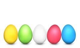 Εορταστικός χρωματισμένος τρισδιάστατος αυγών Πάσχας δίνει ελεύθερη απεικόνιση δικαιώματος