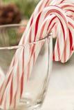 Εορταστικός Peppermint Χριστουγέννων κάλαμος καραμελών Στοκ Εικόνες