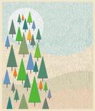 εορταστικό δάσος Στοκ φωτογραφίες με δικαίωμα ελεύθερης χρήσης